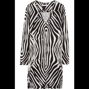 Diane von Furstenberg Reina Zebra Print Dress